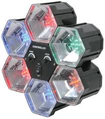 prosound lighting 6 colours led pod disco light party dj sound activated