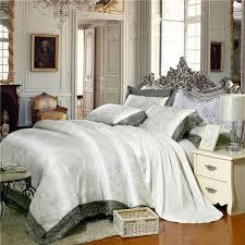 ซ อท ไหน luxury lace jacquard bedding blue beige silver gold color satin bedding set queen king size 4 6pcs duvet cover bed sheet set ในประเทศไทย