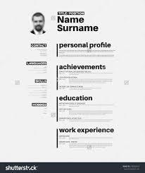 vector mini st cv resume template nice stock vector 278262434 vector mini st cv resume template nice typogrgaphy design