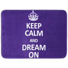 mohawk home keep calm and dream on purple bath 17 in x 24 in
