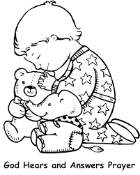 Child Praying Coloring Page Prayer Coloring Sheet Pages Of Child
