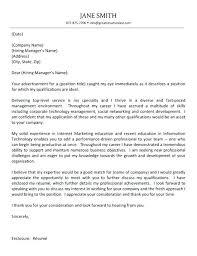 A Good Cover Letter For A Resume Manager Cover Letter Example Resume