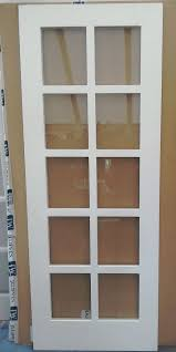 new contemporary jeldwen b q 10 lite glazed primed internal door 762mm leics
