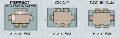 what size rug for dining table rug under dining table size interior and under dining room