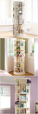 A Revolving Bookcase Loaded with Storage Space...plus more space saving  ideas for