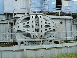 drag line excavator wikivisually the walking mechanism on a preserved bucyrus erie 1150 dragline in the uk