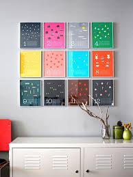 View in gallery Colorful wall calendar as wall art
