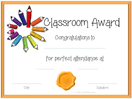 Kids Award Certificate Certificate Template For Kids Perfect Attendance Award Certificates