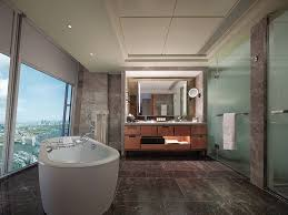 this spacious bathroom at shangri la at the shard takes in just about every important