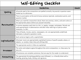 Research Paper Checklist Self Editing For Stie Pertiwi Id Outline