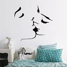 2017 hot ing romantic kiss wall stickers removable wall decal home decor new design diy wall stickers for bedroom decoration wall transfers decals wall
