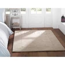 tuscany sienna plain bordered rug natural beige 80 x 150 cm 2