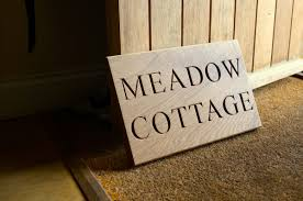 personalised wooden house signs