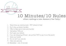 Visiting A Newborn 10 Minutes 10 Rules Dayme Walther
