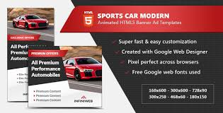 Sports Car Modern Banner Ads Html5 Gwd Template By Infiniweb