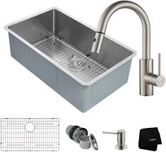 Kraus Khu10032262041ss 32 Inch Kitchen Sink And Faucet Combo With