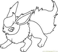 Small Picture Flareon Pokemon Coloring Page Free Pokmon Coloring Pages