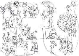 鉄拳風パラパラ漫画イラストで心に響くストーリーのa4見開きサイズ