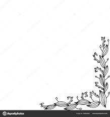 Doodle Frame Met Florale Takken Kleurplaat Voor Volwassenen