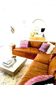 tan leather couch. West Elm Leather Couch Used Sectional Sofa Tan