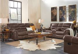 complete living room sets. beckley brown 3 pc reclining living room complete sets e