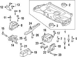 parts com® volkswagen engine cradle mount bolt 2 5 liter m12x1 2014 volkswagen jetta se l4 1 8 liter gas engine trans mounting