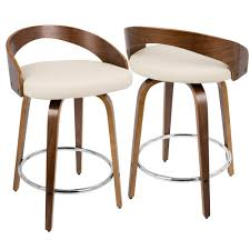 cream counter stools. Simple Cream Lumisource Grotto Walnut And Cream Swivel Counter Stool And Stools Y