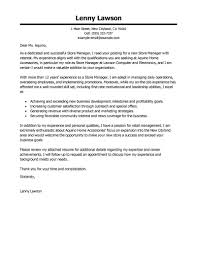 Store Manager Cover Letter Best Examples Livecareer Assistant With