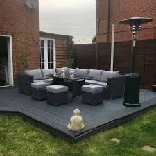 gray outdoor patio set. 9 seater rattan garden furniture.. grey decking.. makeover gray outdoor patio set a
