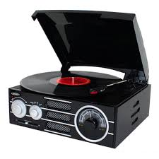 jensen 3 sd stereo turntable with am fm stereo radio