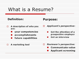 Resume Workshop Ppt Video Online Download Extraordinary Purpose Of A Resume