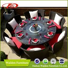 rattan chair dining table set round dining table with 6 chairs dh 9582