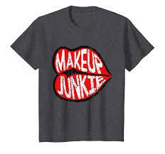 Designer Junkie Shirt Makeup Shirt Distressed Makeup Junkie Big Juicy Lips Shirt