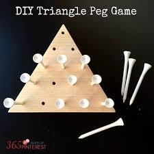 Wooden Triangle Peg Game DIY Triangle Peg Board Game 100ish Days of Pinterest OGT 8