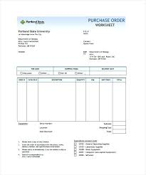 Internal Purchase Order Template Sample Example Free Form