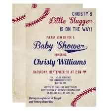 Baby Shower Invitation Cards Baseball Themed Baby Shower Invitation Cards