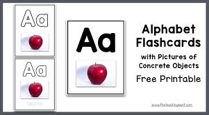 Free Alphabet Flash Cards Alphabet Flashcards With Pictures Of Concrete Objects The
