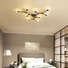 Bedroom Ceiling Lights 9 Heads Acrylic Led Ceiling Light Pendant Lamp Hallway Bedroom Dimmable Fixture