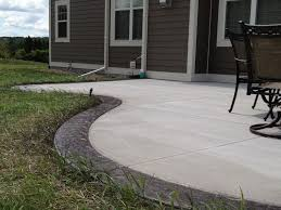 Backyard Concrete Designs Enchanting Colored Cement Patio By Using Colored Concrete Stained Concrete