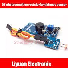 <b>3pcs</b> 5VDC photosensitive resistor <b>brightness sensor</b> / buzzer alarm ...