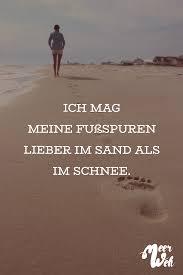 Visual Statements Ich Mg Meine Fußspuren Lieber Im Sand Als Im