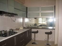 Mirrored Kitchen Cabinet Doors Mirrored Kitchen Cabinets Easy Naturalcom