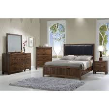 modern rustic bedroom furniture. Clearance Modern Rustic Brown 6 Piece California King Bedroom Set - Belmont Furniture