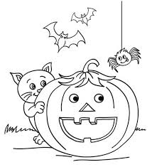 Small Picture Halloween Color Pages For Kids October Coloring Home