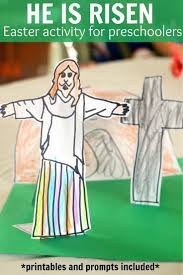 He Is Risen Activity For Easter For Toddlers And Preschoolers