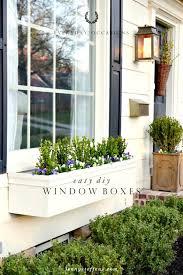 easy diy window flower boxes tutorial