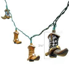 decorative string lighting. cowboy boot decorative string lights lighting