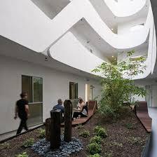 courtyards loha mariposa1038 housing block curvilinear courtyard koreatown los angeles