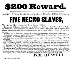 brewstercourse page u s history the th century a  runaway slave reward