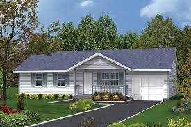 Ranch Style House Plan - 3 Beds 1.00 Baths 988 Sq/Ft Plan #57